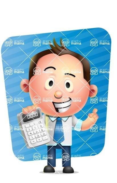 Vector 3D Businessman Character Design AKA Samuel Brightman - Shape 5