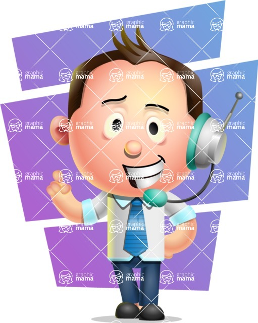 Vector 3D Businessman Character Design AKA Samuel Brightman - Shape 7