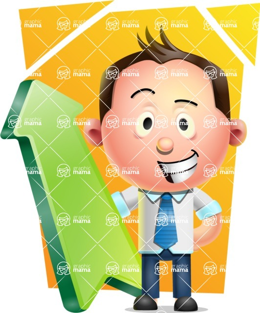 Vector 3D Businessman Character Design AKA Samuel Brightman - Shape 8