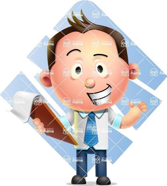 Vector 3D Businessman Character Design AKA Samuel Brightman - Shape 11