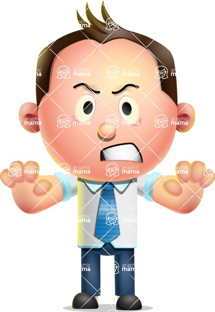 Vector 3D Businessman Character Design AKA Samuel Brightman - Stop
