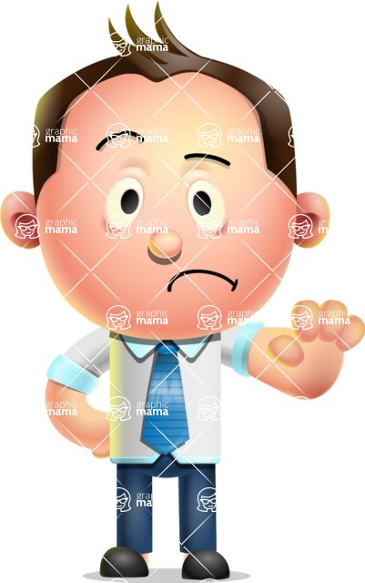 Vector 3D Businessman Character Design AKA Samuel Brightman - Stop 2