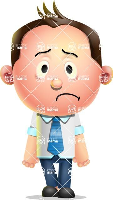 Vector 3D Businessman Character Design AKA Samuel Brightman - Sad
