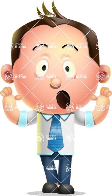 Vector 3D Businessman Character Design - Shocked