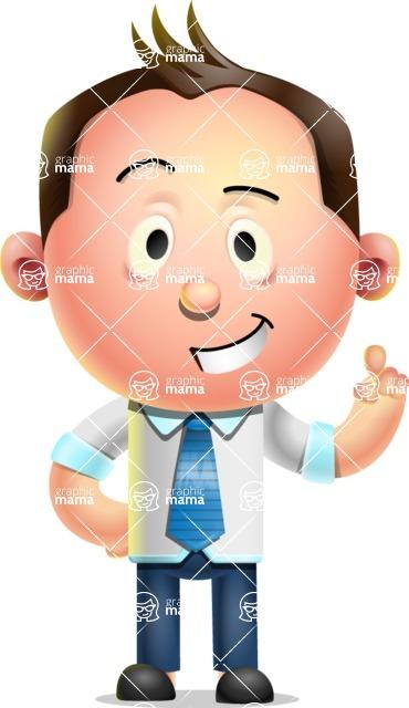 Vector 3D Businessman Character Design - Attention