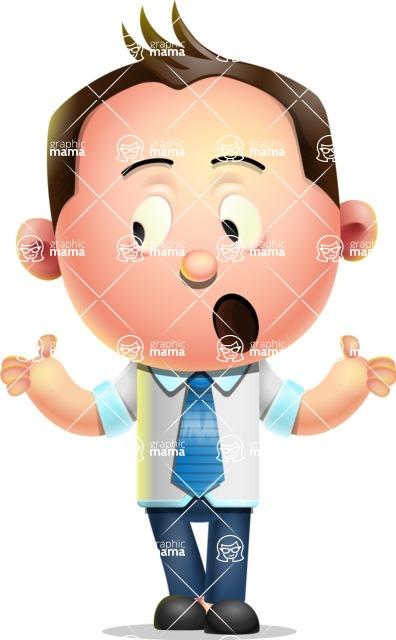 Vector 3D Businessman Character Design - Lost