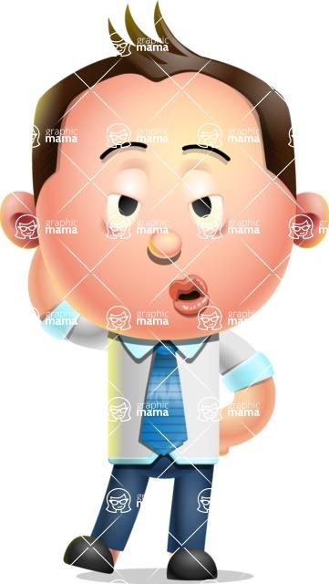 Vector 3D Businessman Character Design AKA Samuel Brightman - Duckface