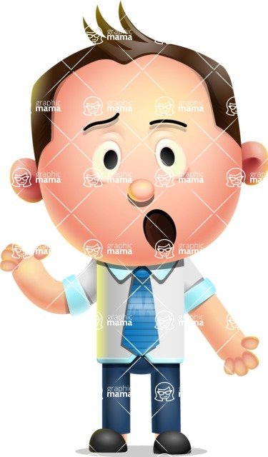 Vector 3D Businessman Character Design AKA Samuel Brightman - Confused