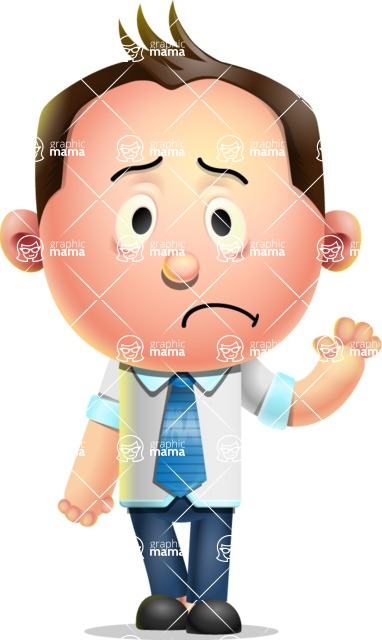 Vector 3D Businessman Character Design AKA Samuel Brightman - Goodbye
