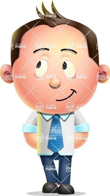 Vector 3D Businessman Character Design AKA Samuel Brightman - Patient