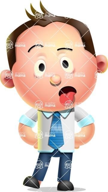 Vector 3D Businessman Character Design AKA Samuel Brightman - Making Face