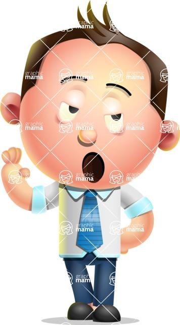 Vector 3D Businessman Character Design AKA Samuel Brightman - Bored 2