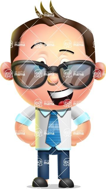 Vector 3D Businessman Character Design - Sunglasses