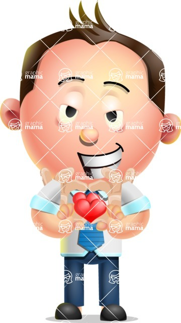 Vector 3D Businessman Character Design AKA Samuel Brightman - Show Love