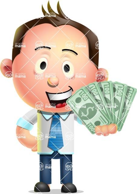 Vector 3D Businessman Character Design AKA Samuel Brightman - Show me  the Money