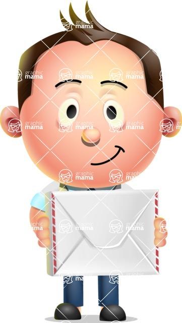 Vector 3D Businessman Character Design AKA Samuel Brightman - Letter