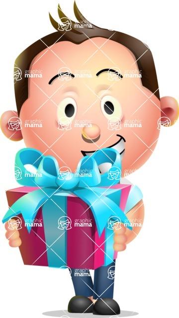 Vector 3D Businessman Character Design AKA Samuel Brightman - Gift
