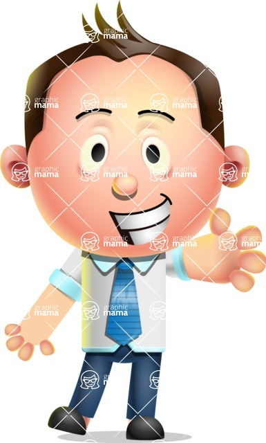 Vector 3D Businessman Character Design - Wave