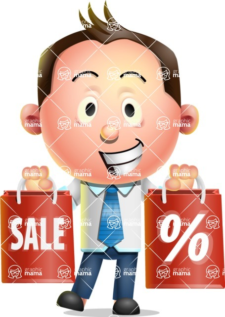 Vector 3D Businessman Character Design AKA Samuel Brightman - Sale 2