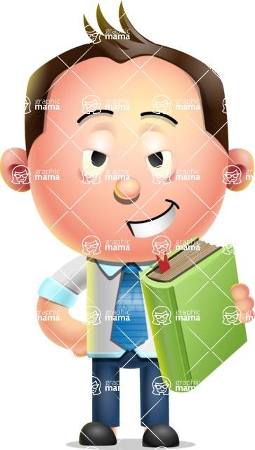 Vector 3D Businessman Character Design AKA Samuel Brightman - Book 3