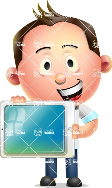 Vector 3D Businessman Character Design - iPad 2