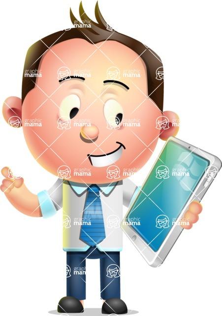 Vector 3D Businessman Character Design - iPad 3
