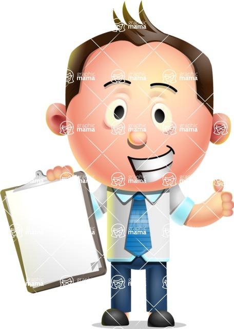 Vector 3D Businessman Character Design - Notepad 1