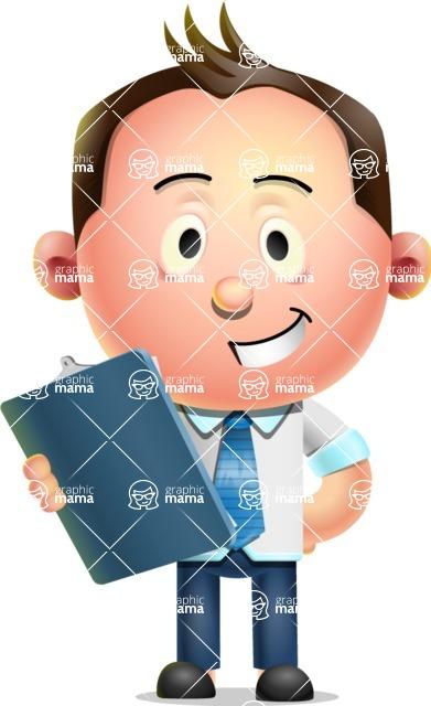 Vector 3D Businessman Character Design AKA Samuel Brightman - Notepad 2