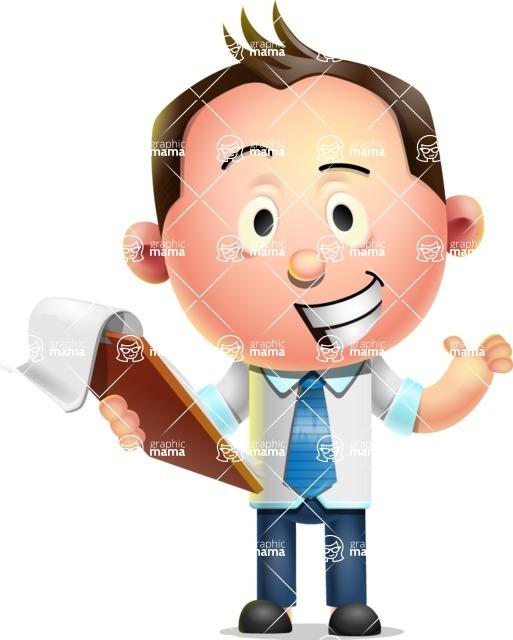 Vector 3D Businessman Character Design AKA Samuel Brightman - Notepad 3