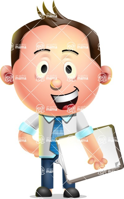 Vector 3D Businessman Character Design - Notepad 4