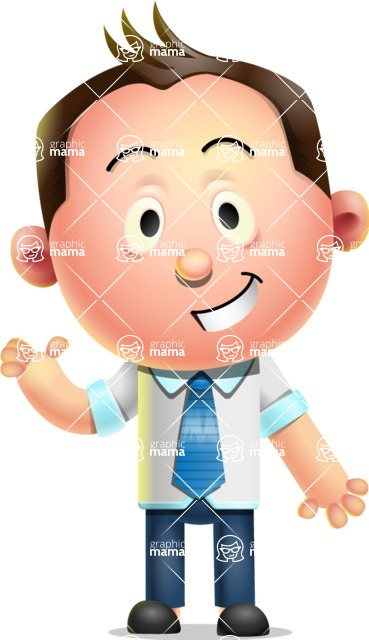 Vector 3D Businessman Character Design - Show