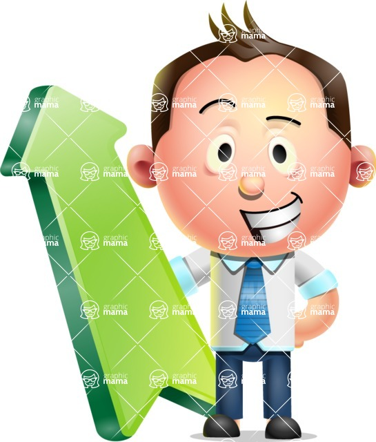 Vector 3D Businessman Character Design - Pointer 1