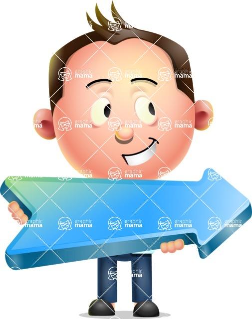 Vector 3D Businessman Character Design AKA Samuel Brightman - Pointer 2