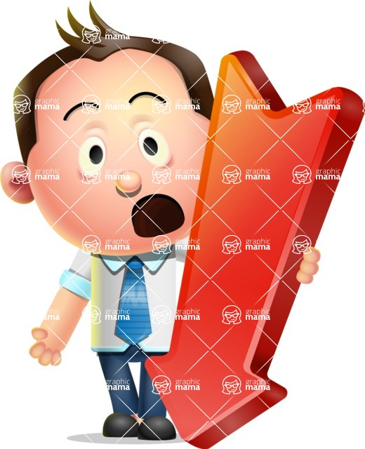 Vector 3D Businessman Character Design - Pointer 3