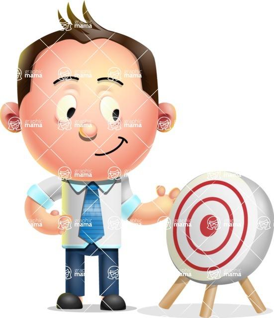 Vector 3D Businessman Character Design AKA Samuel Brightman - Target