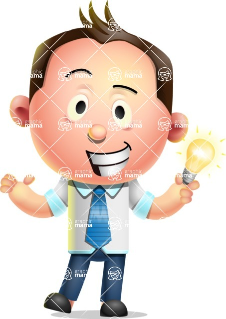Vector 3D Businessman Character Design AKA Samuel Brightman - Idea 1