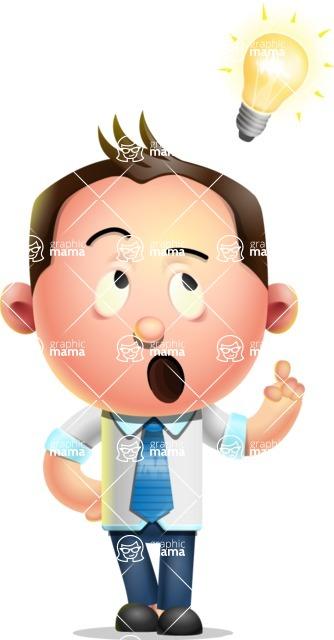 Vector 3D Businessman Character Design AKA Samuel Brightman - Idea 2