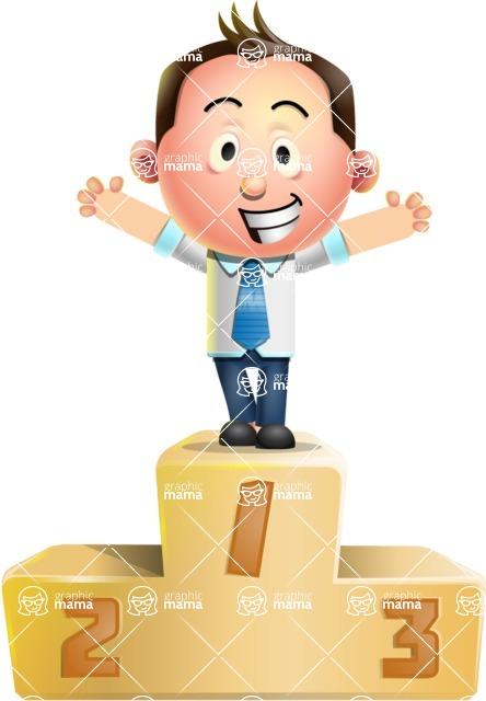 Vector 3D Businessman Character Design - On Top