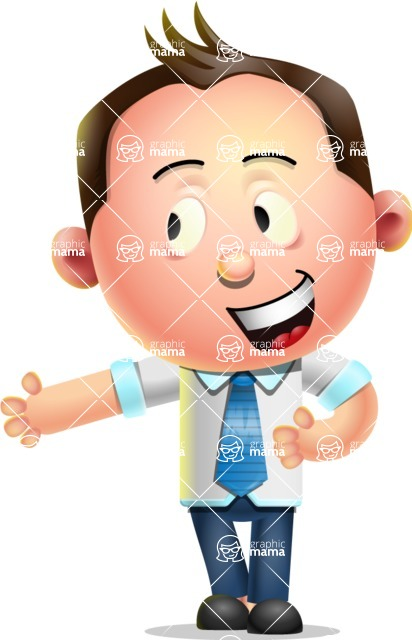 Vector 3D Businessman Character Design - Show 2