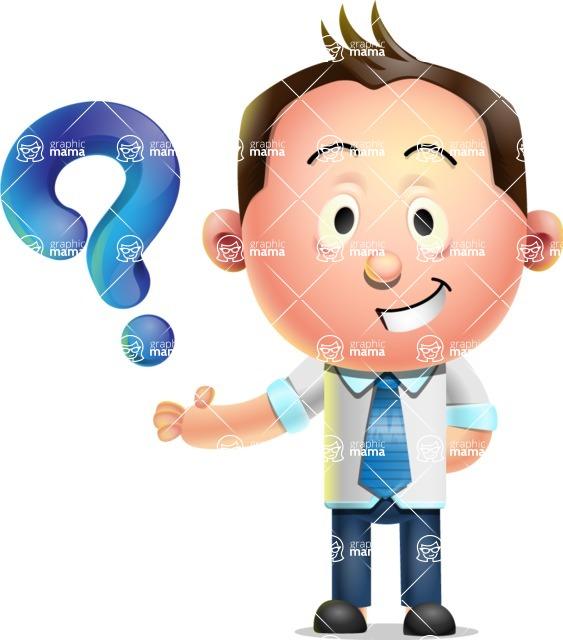 Vector 3D Businessman Character Design - Question