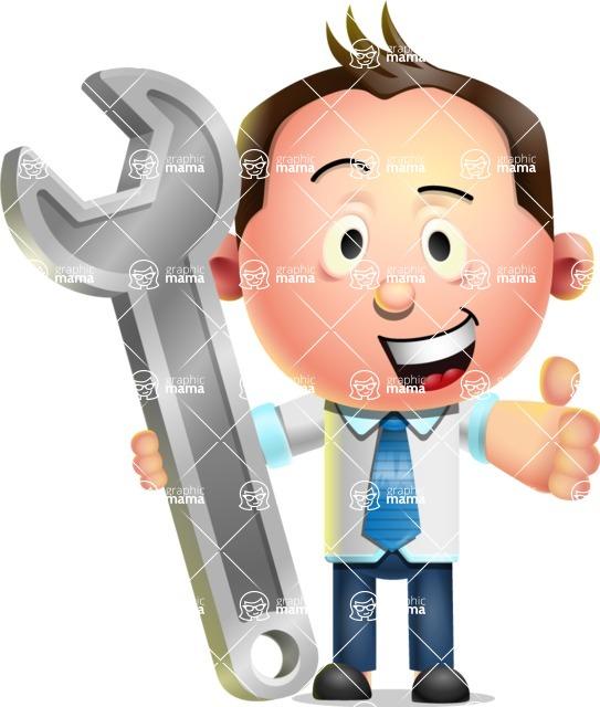 Vector 3D Businessman Character Design AKA Samuel Brightman - Repair