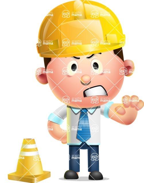 Vector 3D Businessman Character Design - Under Construction 1