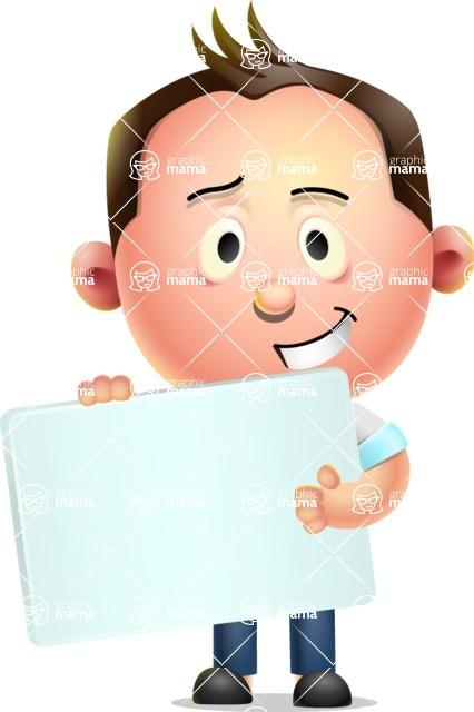 Vector 3D Businessman Character Design AKA Samuel Brightman - Sign 3