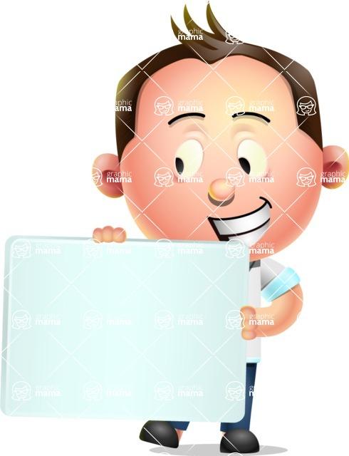 Vector 3D Businessman Character Design AKA Samuel Brightman - Sign 4