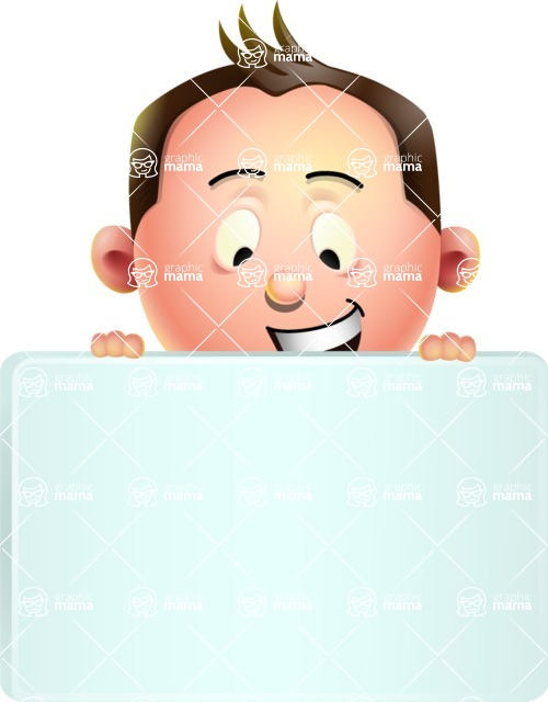 Vector 3D Businessman Character Design - Sign 6