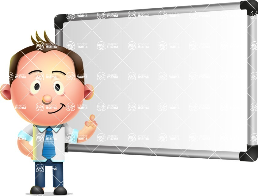 Vector 3D Businessman Character Design AKA Samuel Brightman - Presentation 3