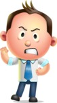 Vector 3D Businessman Character Design - Angry