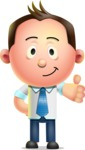 Vector 3D Businessman Character Design - Thumbs Up