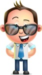 Vector 3D Businessman Character Design - Sunglasses