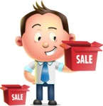 Vector 3D Businessman Character Design AKA Samuel Brightman - Sale